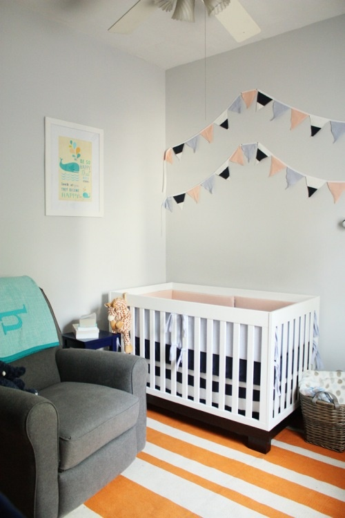 Crib Corner  Idea For The Pennants  Maybe The Grandchildu0027s Name Underneath.