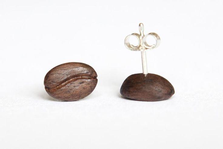 Náušnice pecky, stříbro, ořech | KAAWA