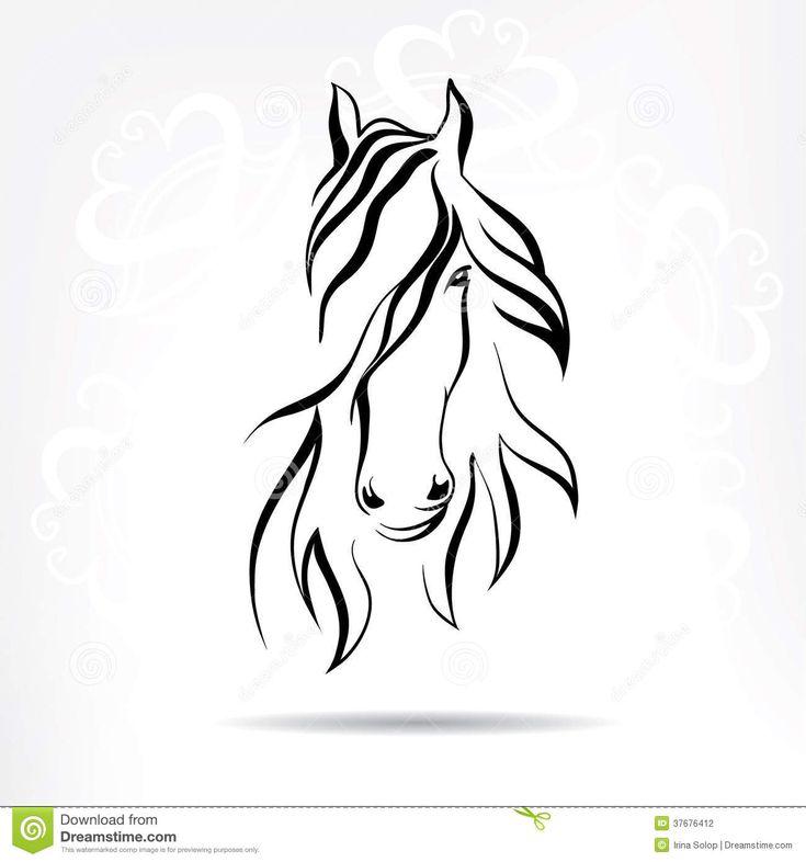 horse head silhouette - Google Search