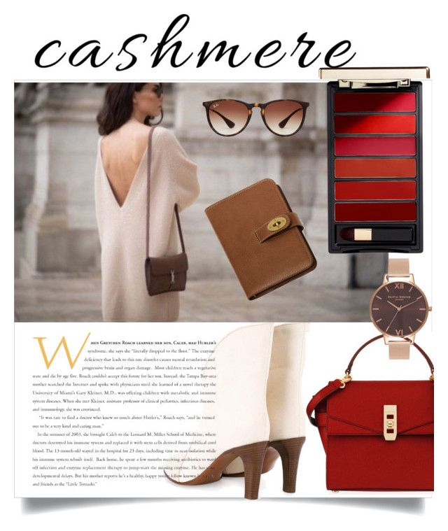 Cashmere by sarks on Polyvore featuring polyvore, fashion, style, Chloé, Henri Bendel, Olivia Burton, Ray-Ban, Mulberry and clothing