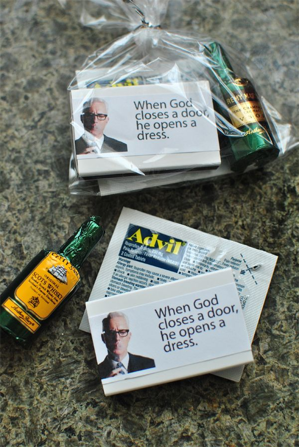 Mad Men Party Favors