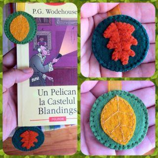 Felt handmade book mark
