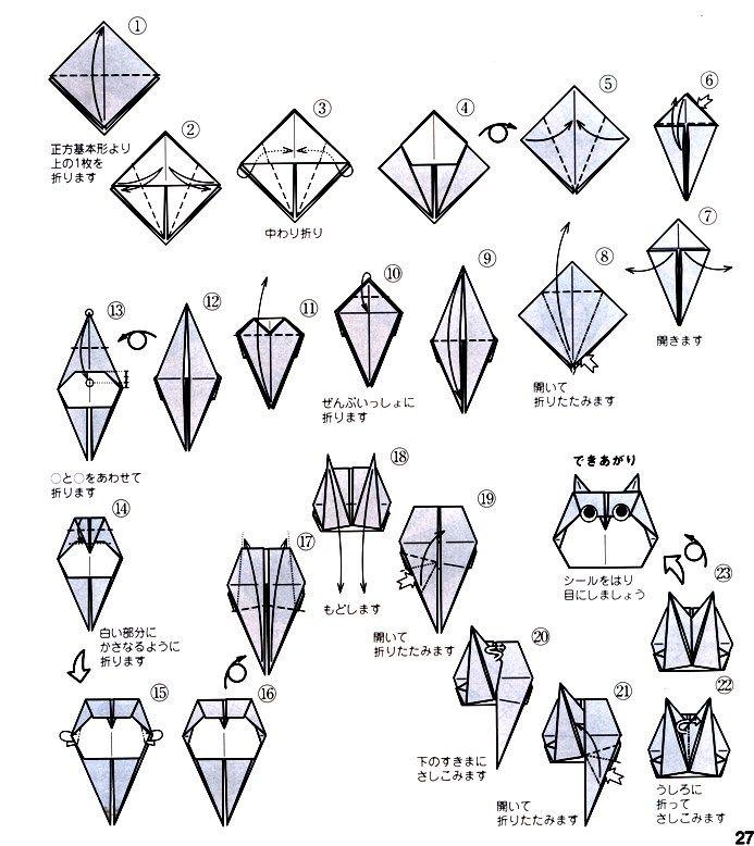 ふくろうの折り方(2)