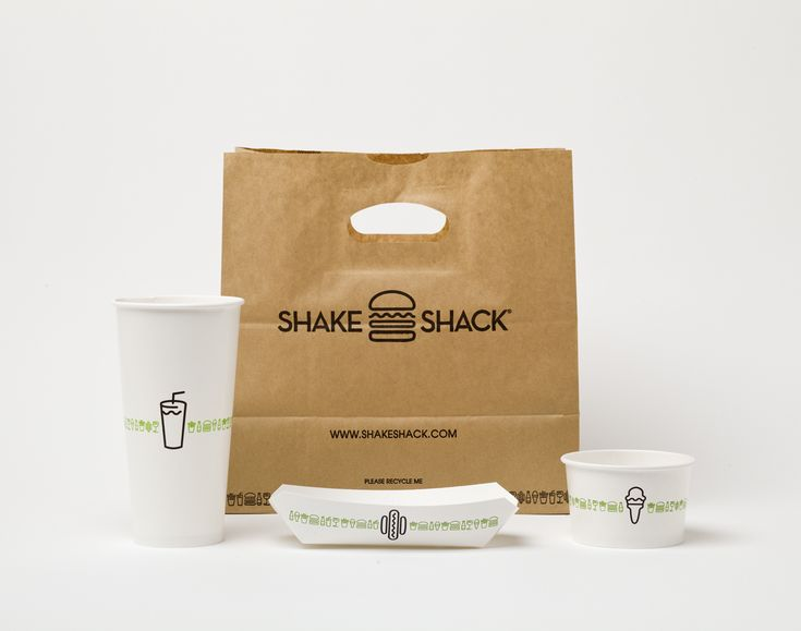 Shake Shack packaging designed by Paula Scher and team at Pentagram NY