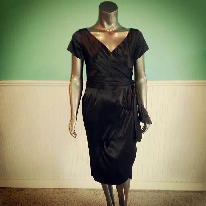 Black Satin Dress - Plus Size - Curvy Fashion - Bold - Unique - Renegade