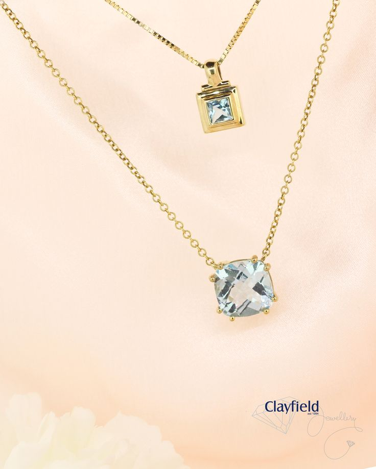 stunning topaz and yellow gold necklace and pendant, by Clayfield Jewellery in Nundah Village - North Brisbane