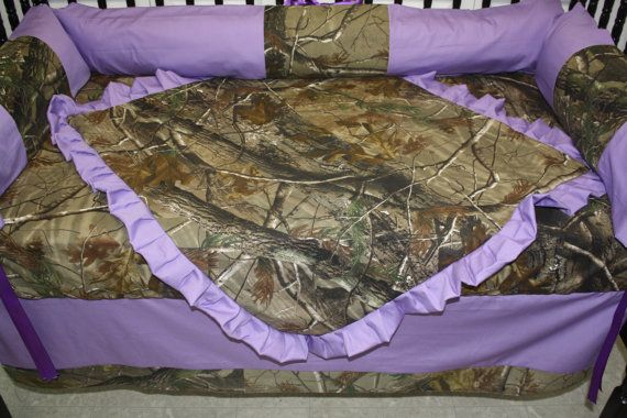 Hey, I found this really awesome Etsy listing at https://www.etsy.com/listing/195970045/5pc-camo-real-tree-purple-baby-bedding