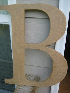 Wonderful blog that illustrates how to make large foam core letters!