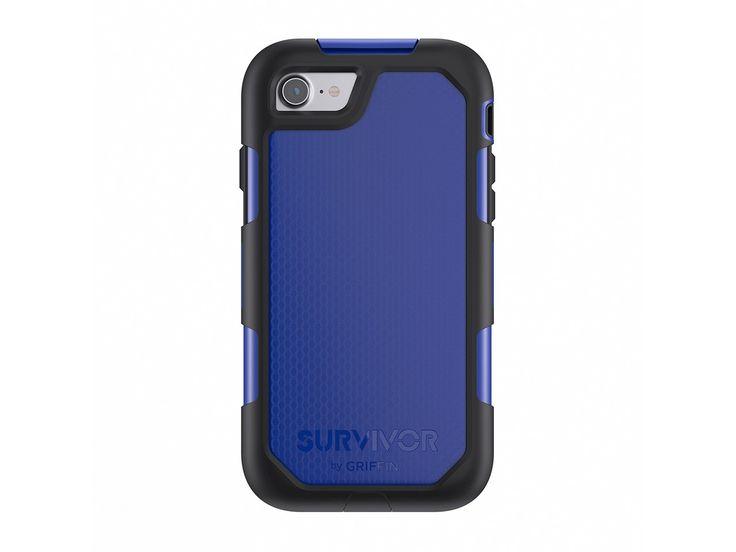 Boitier de protection Griffin Survivor Summit pour #iPhone 7  antichoc avec écran de protection compatibles avec fonctions tactiles Force Touch. Norme militaire MIL-STD-810G adapté à la survie sur le terrain. Norme IP-55 : résiste à la poussière, moisissure et projections d'eau #outdoor