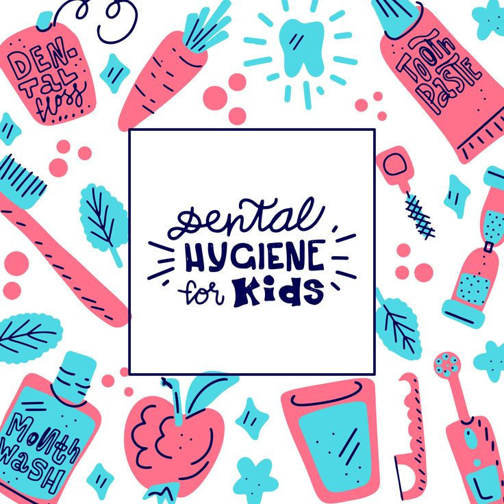 Kids oral care illustration keep calm and smile cute