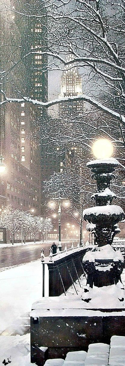 Image via We Heart It Snowing in New York City