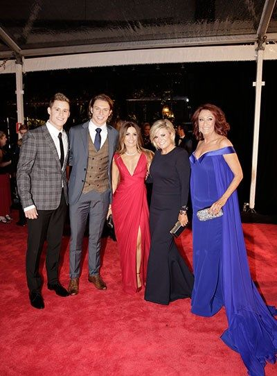 Scott Lee hits the red carpet with his H&A cast