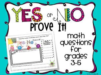 This is a set of 35 math questions that can be used for whole group, independent work, centers, during math workshop, or however else you would lik...