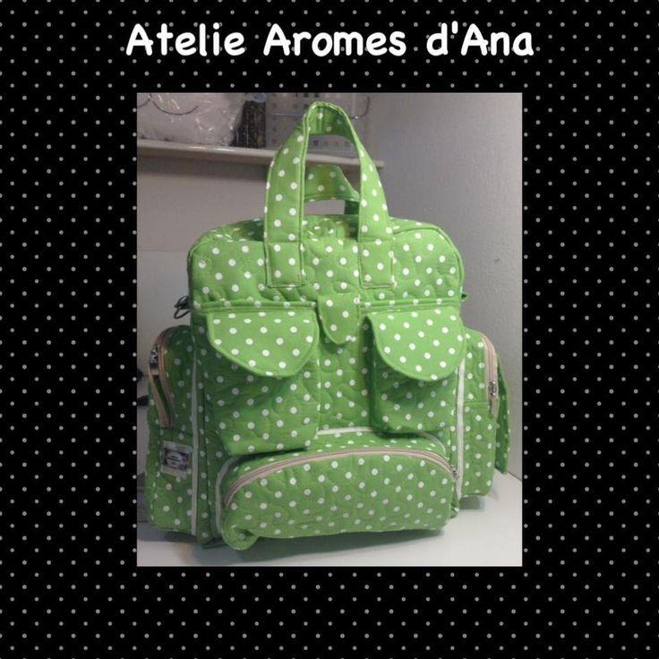 Bolsa Green,Como fazer uma mochila maternidade com trocador