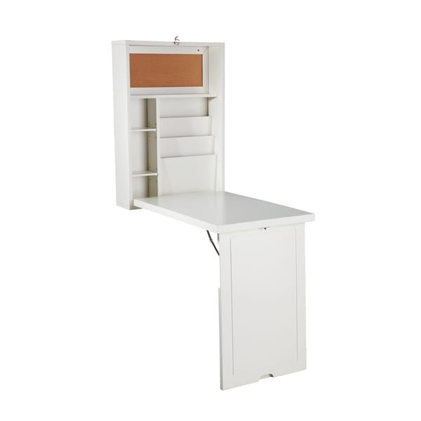 Fabulous Harper Blvd Murphy Winter Antique White Fold out Convertible Desk