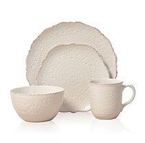 Pfaltzgraff Marseilles Stoneware Dinnerware  16-piece  Cream