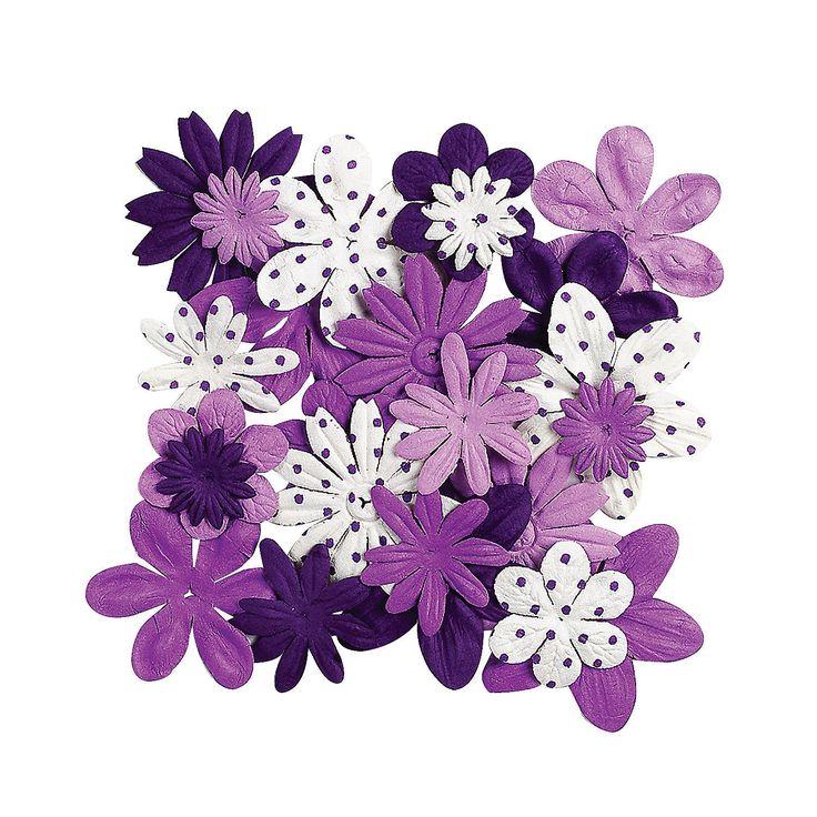 Monochromatic+Purple+Flowers+-+OrientalTrading.com