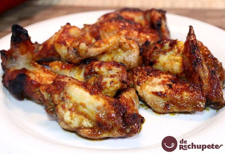 Como preparar alitas en salsa barbacoa o BBQ casera, receta que suele gustar a toda la familia, divertidas de comer entre grandes y pequeños y no hacen falta cubiertos, se comen con las manos.