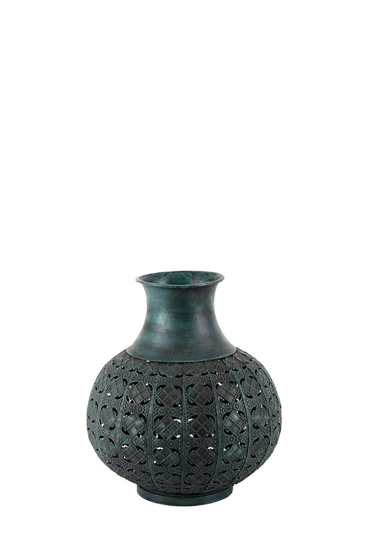 Short Punched Metal Vase| Mrphome Online Shopping