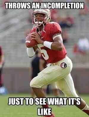 Florida State University's QB Jameis Winston.  True story
