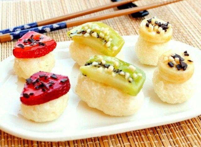 Sushi dolce di frutta