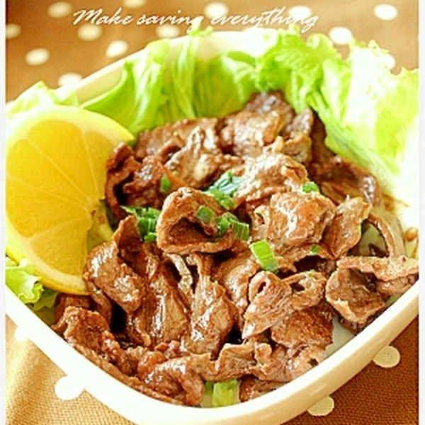 牛薄切り肉のオイマヨソース炒め
