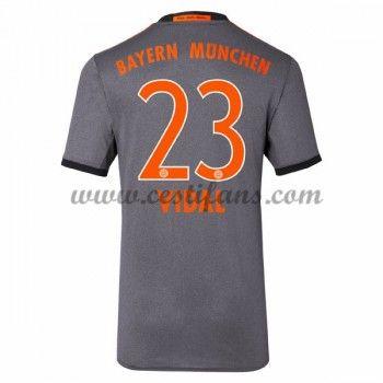 Bayern Munich Fotbalové Dresy 2016-17 Vidal 23 Venkovní Dres