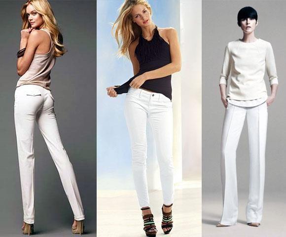 Белые женские летние брюки