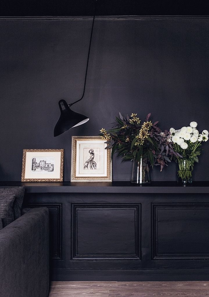 25 best ideas about dark interiors on pinterest black Room with black walls