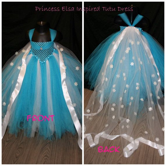 Listing is for a Frozen Inspired Tutu Dress With Snowflake Cape.    Frozen tutu dress will have that special little girl feeling like