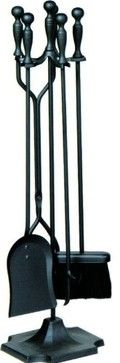 "5 Pc. Fireset 31"" Black contemporary-fireplace-accessories"