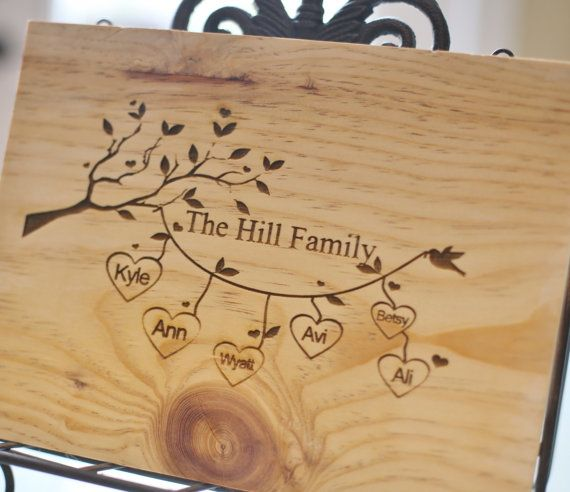 Personalized Cutting Board Family Names Custom Engraved
