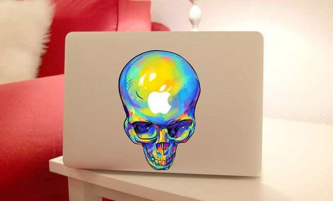 macbook pro sticker macbook pro decal deathhead macbook air decal sticker macbook retina decal Sticker cover keyboard decal by MixedDecal on Etsy