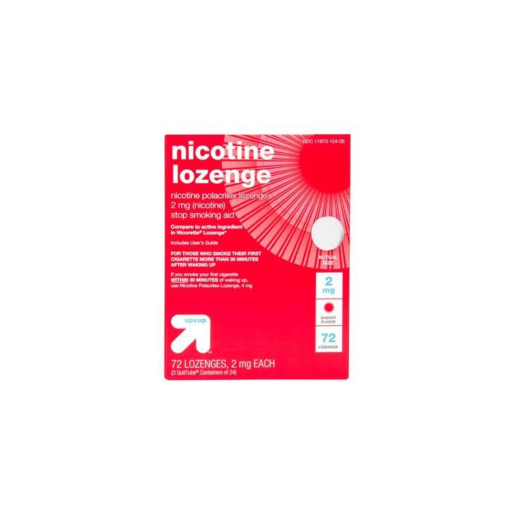 Nicotine 2mg Lozenge Stop Smoking Aid - Sugar Free Cherry - (Compare to Nicorette Lozenge) 72ct - up & up