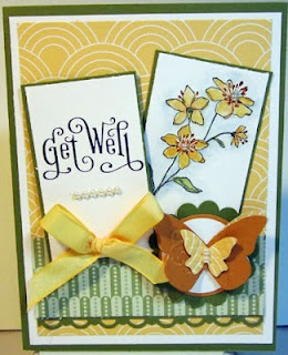 http://craftymariasstampingworld.blogspot.com: Homemade Card, Card Idea, Flower Card, Handmade Card, Card Etc, Card Simply, Soft Card, Cards Etc, Homemade Get Well Card