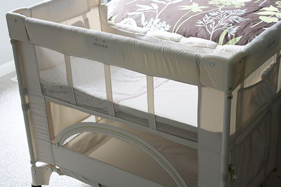"""Arm's Reach co-sleeper: """"Their response is that there are no flame retardant chemicals anywhere on the co-sleeper itself. As far as the mattresses go, they noted that their non-organic mattresses manufactured after June 2011 do not contain flame retardants"""""""