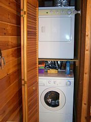 Laundry facilities are located in the master bath.
