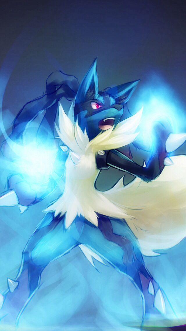 Lucario Pokemon Poster Print Mega By MinishWorkshops 640x1136