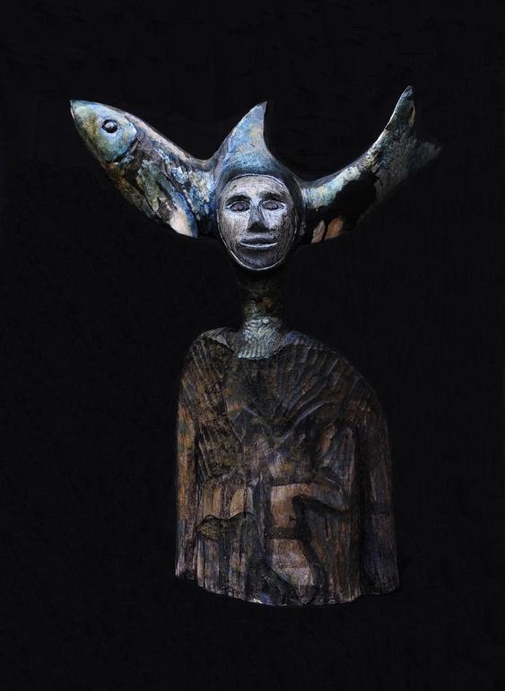 "Saatchi Online Artist: paolo figar; Wood, 2011, Sculpture """" Moon Lagoon"""""
