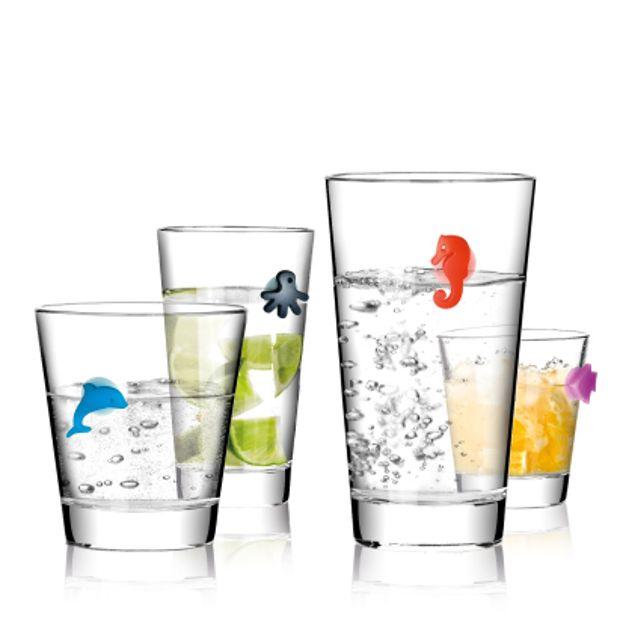 Znaczki na szklanki MY DRINK - komplet 12szt