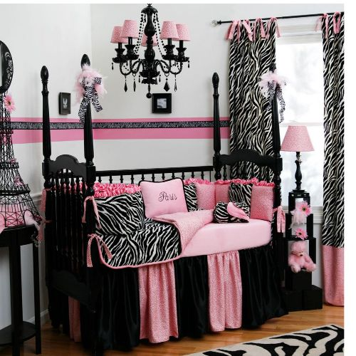 pink and zebra nursery with Paris accents!!