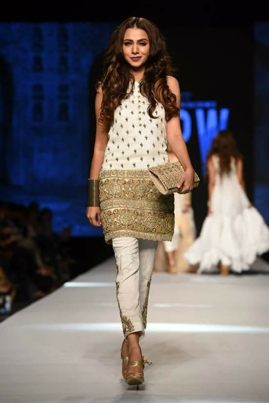 Gul ahmad collection in Fashion pakistan week April 2015
