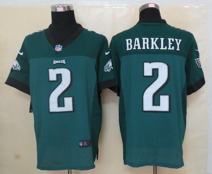 Men's NFL Philadelphia Eagles #2 Barkley Green Elite Jersey