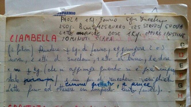 #Ciambella Romagnola La ricetta della #nonna.