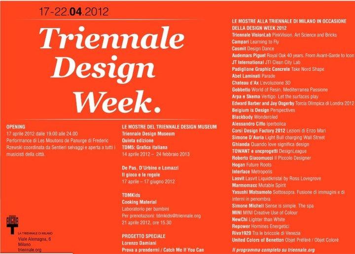 Skema alla Triennale Design Week. Vi aspettiamo domani alle 19 alla Triennale di Milano.