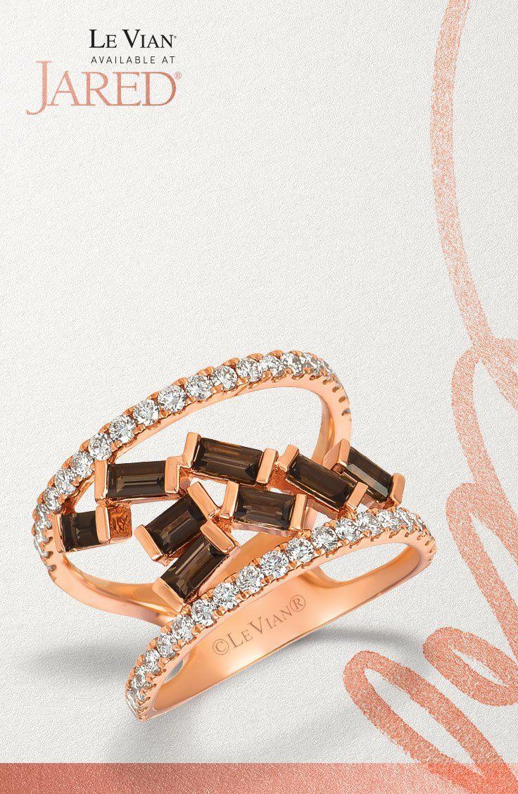 88a69c069 Le Vian Chocolate Quartz Ring 5/8 ct tw Diamonds 14K Gold in 2019   Le Vian    Quartz ring, Gold, Diamond