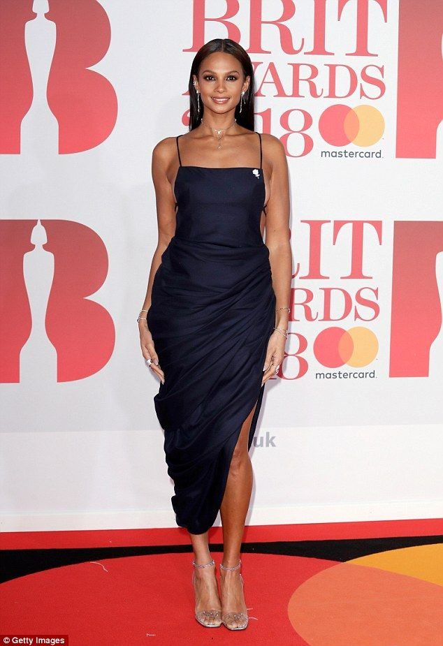 The singer, 39, enjoyed a rare red carpet date night with her dancer beau Azuka Ononye at the BRIT Awards at London's O2 Arena on Wednesday night.