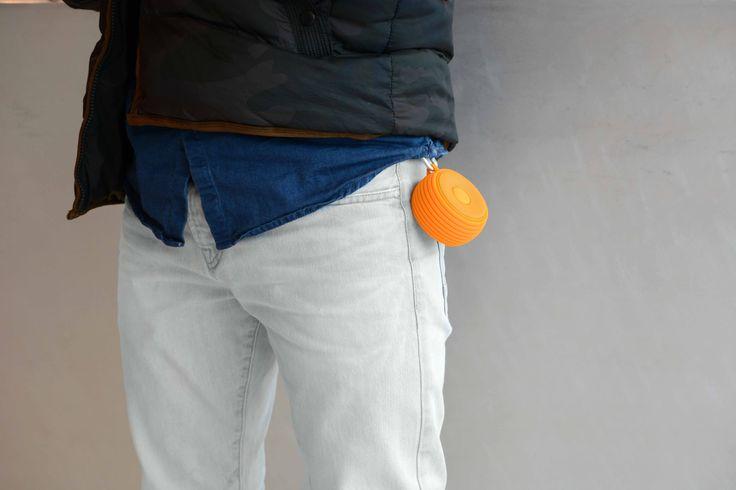 ROCKBOX ROUND H2O Pumpkin | Fresh 'n Rebel | Portable Bluetooth speaker #freshnrebel #rockbox