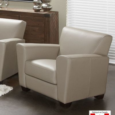 Lind Furniture Cameo Top Grain Leather Arm Chair Fabric:
