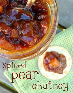 Spiced pear chutney, a great option to make in winter with pears in season.